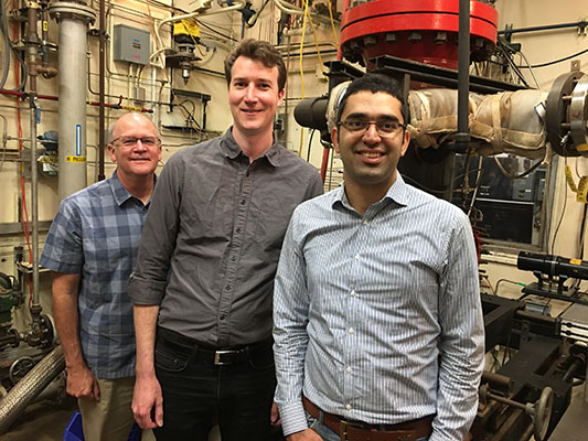 McDonell, Sullivan-Lewis and Kalantari (from left) will receive the best paper award in June at ASME Turbo Expo 2017.
