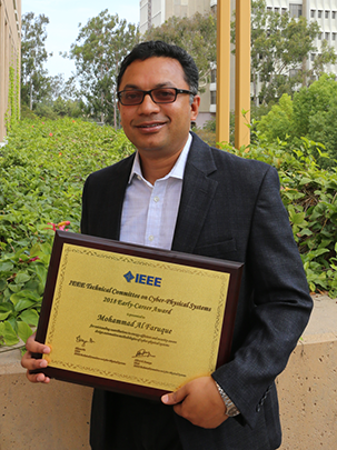 Al Faruque has received two IEEE early career awards in the last two years.
