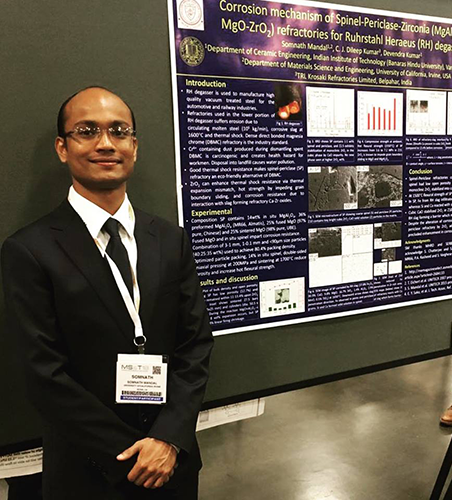 Mandal, who recently was awarded two scholarships, also won first place in a graduate student poster competition last fall at the annual Materials Science &Technology conference.