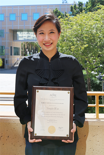 The ASME award recognizes a young engineer for outstanding technical achievements and service to the field.