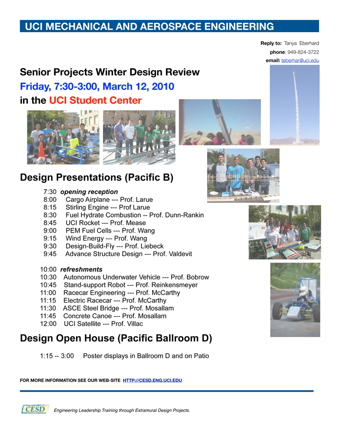 senior projects winter design review the henry samueli school of