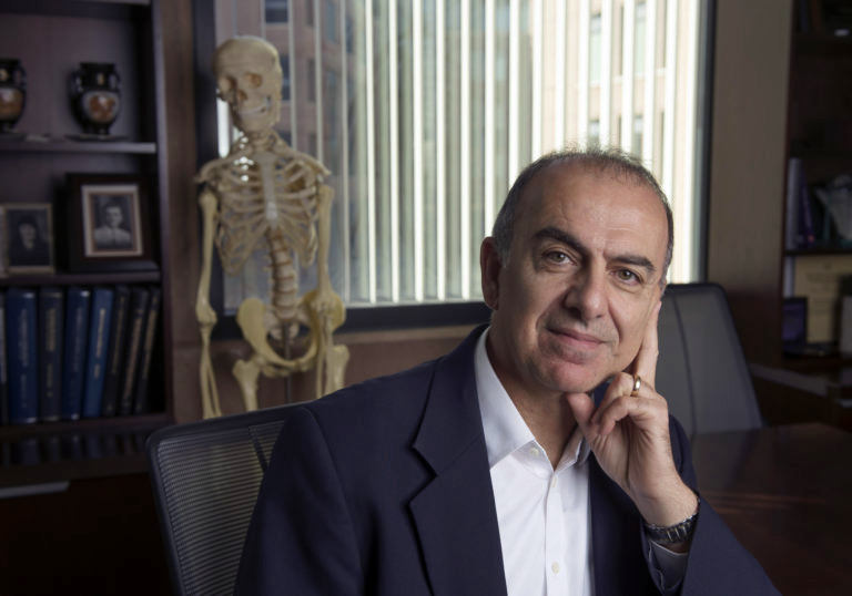 Kyriacos A. Athanasiou, Distinguished Professor of biomedical engineering and Henry Samueli Chair in Engineering at UCI, is one of 100 medical, biomedical and public health professionals elected to the National Academy of Medicine this year. Steve Zylius / UCI