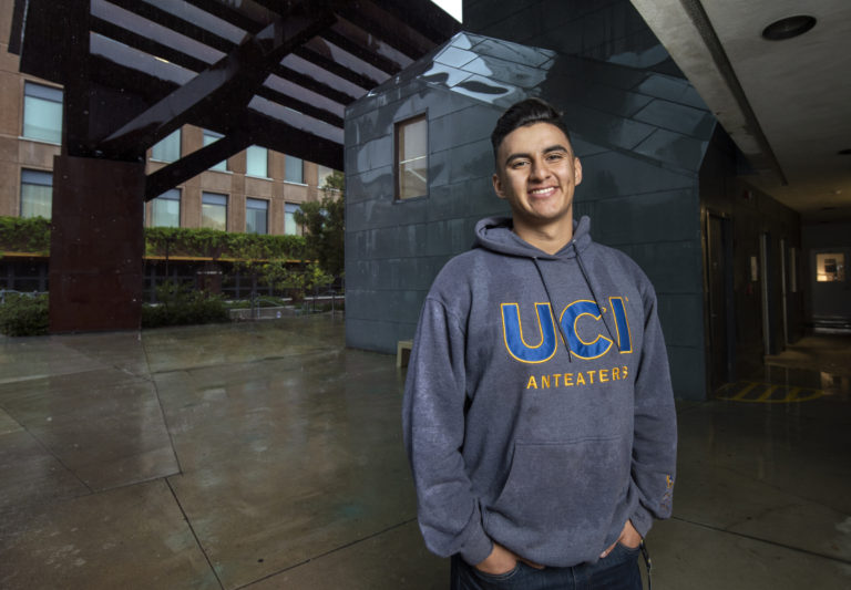 Freshman Marlon Pinedo, who's majoring in materials science & engineering, took advantage of CAMP's three-week, residential Summer Science Academy last year. Steve Zylius / UCI