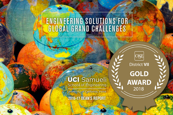 The Far West Region competition received more than 500 entries in 13 categories; the Samueli School's Dean's Report won the Gold Award for Excellence in the Annual Magazine category.