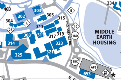 Graduate Student Affairs Office Map