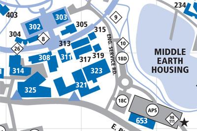Graduate Student Affairs Office Map
