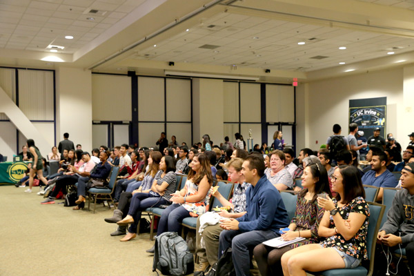 More than 200 students crowded the student center for the second Art of Engineering Showcase, featuring 10 performances.
