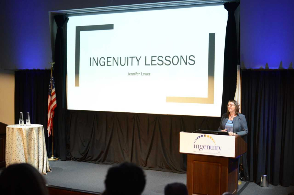 "Keynote speaker Jennifer Leuer shares five ""ingenuity"" lessons."
