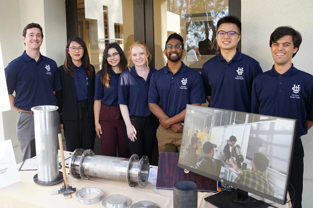 Engineering's collegiate rocketry team.