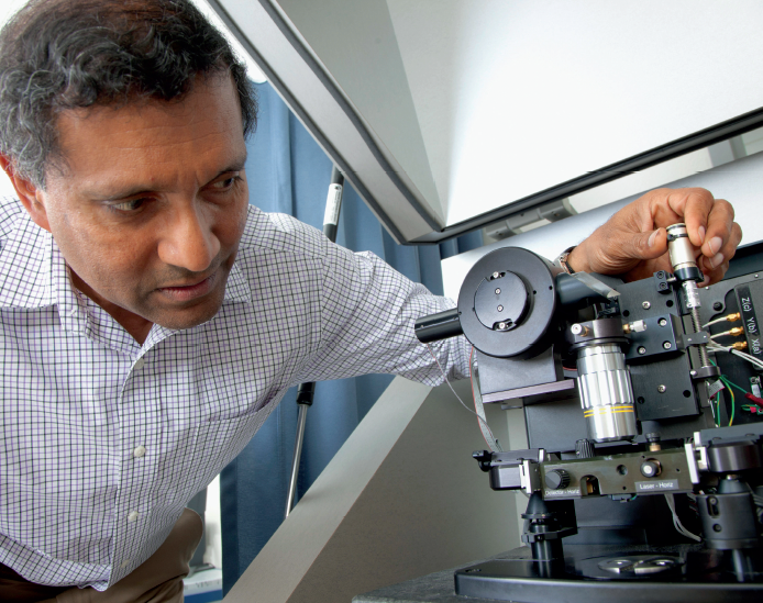 Wickramasinghe, an intrepid inventor, has been responsible for developing a series of high-tech instruments that measure heat, light, magnetism and force on a nanometer scale.