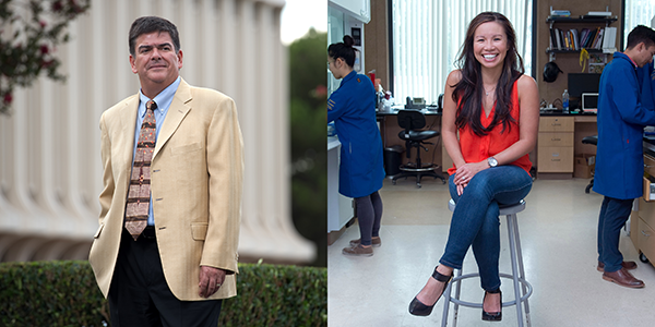 Enrique Lavernia and Michelle Khine are UCI's fourth and fifth National Academy of Inventors fellows. Steve Zylius / UCI