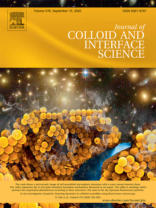 "For the journal cover, Suh edited an SEM image of the colloidal self-assembly process to resemble a canyon with a river flowing through it. ""The valley represents the in-situ grain boundary formation. The valley is smoking, which portrays the evaporation phenomenon occurring in these structures. And the stars represent fluorescent particles. This is very similar to what is occurring as cracks form during self-assembly,"" he said."