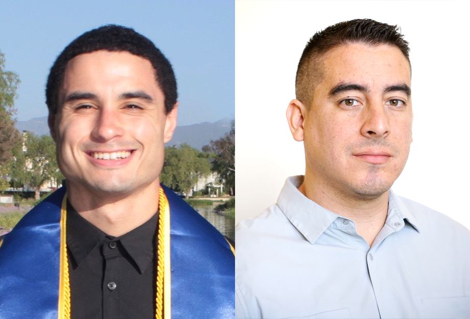 Branden Butler (left) and Cody Gonzalez both received NASA fellowships to support their graduate research.