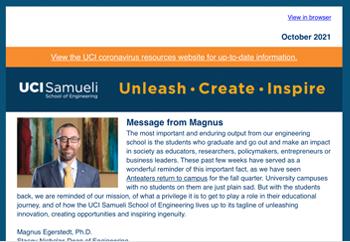 Samueli School of Engineering Newsletter - October 2021