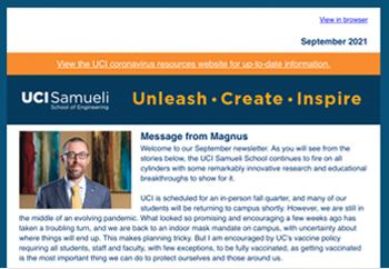 Samueli School of Engineering Newsletter - September 2021