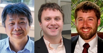 From left: Kuo-lin Hsu, Tim Rupert, Stephen Timko