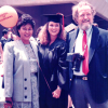 In June 1987, UCI School of Engineering graduation day brought lots of smiles for Gayle and her parents, Maria and Andrew Gayle, who inspired her to break through a very thick glass ceiling in Guam. Photo courtesy of Elizabeth Gayle.