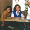 """Alumnae Elizabeth """"Betty"""" Gayle '87 (civil engineering) and Kim Cresencia '87 (mechanical engineering) enjoyed a group study session in the UCI dorms during the 1980s. Gayle credits learning collaboration at UCI as part of her professional success. Still friends decades later, Cresencia notified the Samueli School of Engineering about Gayle's NSPE fellow honor. Photo courtesy of Elizabeth Gayle."""