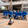 The Steeveck car runs with a thermoelectric generator. Pictured from left are Clark Wey, Brian Li, Derek Fan, Wendy Hao, Dominic Morquecho and Eduardo (Eddie) Miranda.
