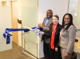 Washington, Chevron's Murphy-Ortega and Artis prepare to formally inaugurate the Office of Access and Inclusion's renovated space.