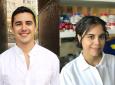 Biomedical engineering graduate students Gonzalez-Leon (left) and Salinas both won national awards recently.