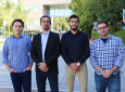 From left: Kassas, Maaref, Abdallah and Khalife brought home three best paper presentation awards from this year's Institute of Navigation Global Navigation Satellite Systems Conference.