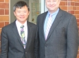 Professors Abraham Lee (left) and Ian Papautsky at kick-off meeting for CADMIM