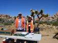 Alma Carrillo and Andrew Timothy gather transportation data at Joshua Tree National Park