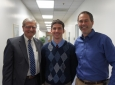 From left: Professor Scott Samuelsen, Fulbright Scholar Dustin McLarty, Associate Professor Jack Brouwer