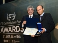 Hamid Jafarkhani (right) receives IEEE Sumner Award