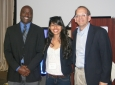 Dean Gregory Washington, Engineering Mentee Deysi Alvarado, Dean Hal Stern
