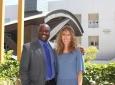 Stacey Nicholas with Samueli School Dean Gregory Washington