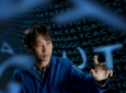 """""""A lot of our projects are figuring out how to experiment on cells at rates necessary to see evolution occur in the time scales of a laboratory rather than in the natural biological world,"""" says Chang Liu, UCI assistant professor of biomedical engineering"""