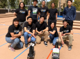 The Samueli School's Chem-E-Car team successfully built two working cars from home using household chemicals. Pictured are, top row, from left, Raniel Baki, Brian Li, Clark Wey, Jessica Kotini and Derek Fan; bottom row, from left, Giselle Meraz, Patrick Yang, Dominic Morquecho, Wendy Hao, Eduardo (Eddie) Miranda.