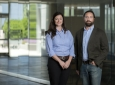 Devon Lawson, an assistant professor of physiology & biophysics (left), and Kai Kessenbrock, an assistant professor of biological chemistry, will head the UCI team that's part of the interdisciplinary Human Breast Cell Atlas Seed Network. Steve Zylius / UCI