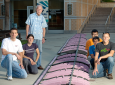 Liebeck, standing, with UCI's human-powered airplane team in 2014, retired last month from Boeing but will continue to teach and mentor university students. Steve Zylius / UCI
