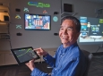 "Calit2 director G.P. Li, UCI professor of electrical engineering and computer science: ""Our role is to align smart manufacturing with cyber secure manufacturing and renewables to provide truly sustainable solutions."" Steve Zylius / UCI"