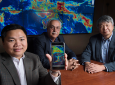 UCI Center for Hydrometeorology and Remote Sensing faculty members Phu Nguyen, Soroosh Sorooshian and Kuo-lin Hsu led the creation of the iRain mobile app. Steve Zylius / UCI