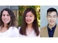 Lugin, far left, won a Public Impact Distinguished Fellowship. Li and Toh are Public Impact Fellows.