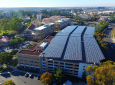 Solar power arrays, like this on the roof of the School of Social Sciences parking structure, are an integral renewable energy system within the UC Irvine microgrid. Photo credit: UC Regents