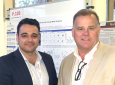Jonathan Lakey (right), UCI professor of surgery and biomedical engineering, and Reza Mohammadi, who earned a doctorate in materials science and engineering at UCI last year while working in Lakey's lab, helped develop a hybrid alginate that inhibits negative immune responses to pancreatic islet transplantation. Sue & Bill Gross Stem Cell Research Center