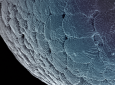 """Materials science and engineering graduate student Sasha Vyatskikh won first place in the Science as Art contest with her research image titled """"Moon Landing."""""""