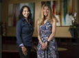 """It has never been more important to empower women and students from disadvantaged backgrounds to become the engineers of the future,"" says UCI Foundation trustee Stacey Nicholas (right), here with collaborator Regina Ragan, diversity chair and professor in UCI's Henry Samueli School of Engineering. ""Equally important is a commitment to a diverse faculty that brings unique perspectives and can serve as role models for students."" Steve Zylius / UCI"