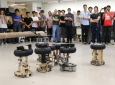 Robots were designed and constructed by students in MAE 106