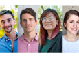 This year's NSF Graduate Research Fellows are, clockwise, Andrew Rowley, Bryce Wilson, Courtney Kay Carlson and Kimmai Phan.