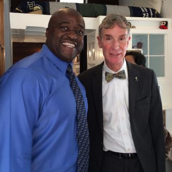 Dean Washington with Bill Nye