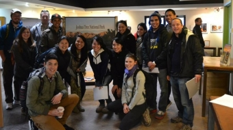 UCI's ITE students visit Joshua Tree to conduct transit feasibility study