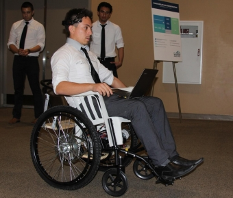 Wheelchair controlled by brain power