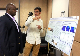 Students displayed their projects at a summer symposium