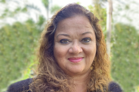 """Elizabeth """"Betty"""" Gayle '87 is the first licensed female indigenous professional engineer in Guam and was named a 2020 National Society of Professional Engineers fellow. Photo courtesy of Elizabeth Gayle."""